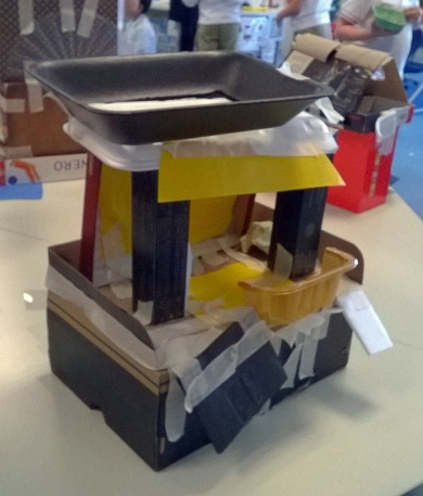 House in the classroom - project in Y1 class during school schedule