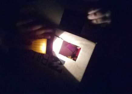 Flashlight in